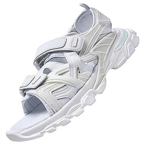 Fisherman Casual Sneakers,Sandali Da Trekking All'Aperto Sandali Sportivi Con Cuscino D'Aria Sandali Da Spiaggia Impermeabili,White_38
