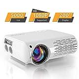 Beamer,5000 Lux Video Projektor (550 ANSI) Crenova XPE660 unterstützt...
