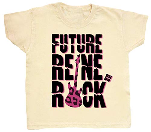 Dirty Fingers Future Reine du Rock Enfant t-Shirt 5-6 Ans Beige