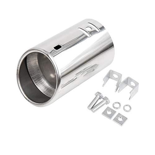 XFC-PAI, De Escape de Acero Inoxidable Universal del Coche de Cola Trasera de la extremidad del silenciador de Tubo en Forma for el diámetro de 3,18 cm / 1.25' A 5,08 cm / 2'