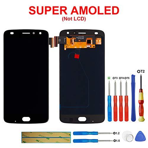 swark Super AMOLED Display Kompatibel mit Motorola Moto Z Play 2nd Gen Z2 Play XT1710-01/07/08/10 XT1710-06/02/10/11 5.5'' (schwarz) Ohne Rahmen LCD Display Touchscreen