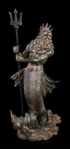 Fantasy Poseidon Figur mit Dreizack im Antik-Look | Mythologie-Figur, Handbemalt
