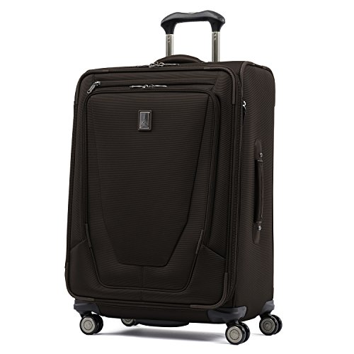 Travelpro Crew 11 25' Expandable Spinner Suitcase w/Suiter, Mahogany Brown