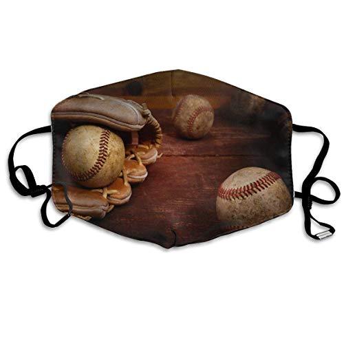 Gezichtsmasker retro baseball sportmasker tegen stof beschermde glimlachende maskers wasbaar herbruikbaar mondmasker wit