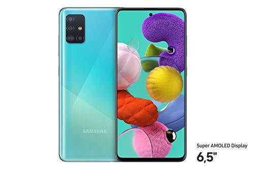 Samsung Galaxy A51 (16.4cm (6.5 Zoll) 128 GB interner Speicher, 4 GB RAM, Dual SIM, Android, prism crush blue)