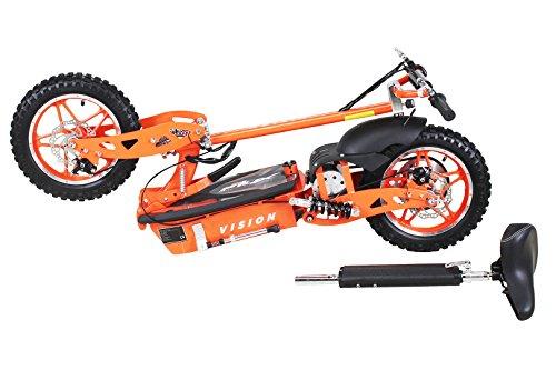 E-Scooter Roller Original E-Flux Vision mit 1000 Watt 36 V Motor Elektroroller E-Roller E-Scooter in vielen Farben (Orange) - 3
