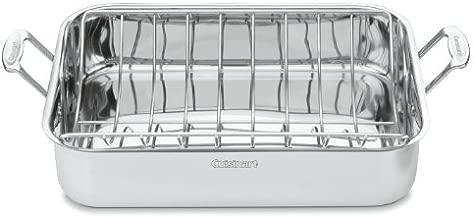 Cuisinart 7117-16UR Chef's Classic Stainless 16-Inch Rectangular Roaster with Rack, Roaster Rack