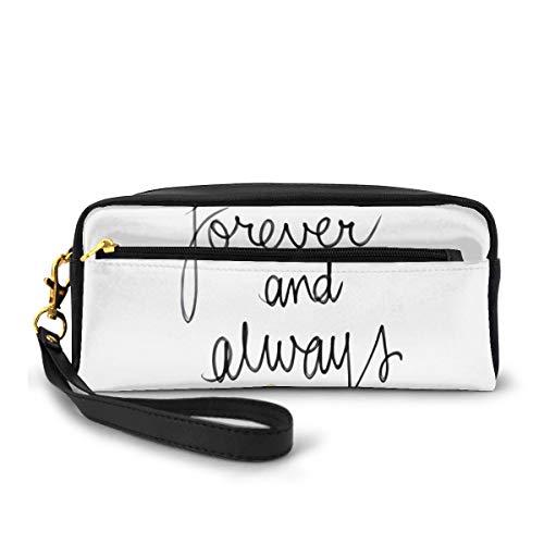 Federmappe Forever and Always Stifttasche Make-up-Tasche Geldbörse große Kapazität tragbare Make-up-Taschen Make-up-Organizer für Studenten oder Frauen