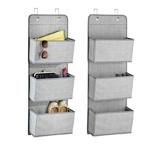 mDesign Hanging Storage with 3 Pockets - Children's Room Storage for...