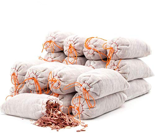 Coolrunner 12 Stück Zedernbeutel Beutel für Schränke, Schubladen, Schuhe, Kleidung