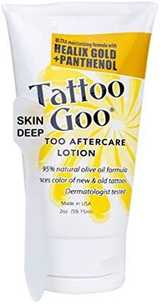 2 oz Tattoo Goo Lotion with Skin Deep Brand Applicator Stick 1 Lotion and Applicator product image