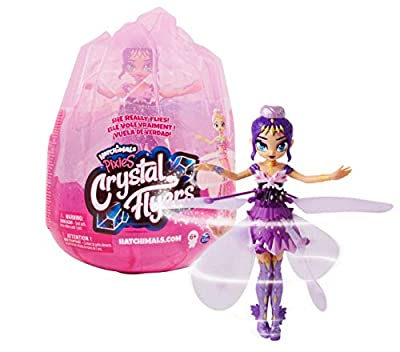 Hatchimals Pixies, Crystal Flyers Purple Magical Flying Pixie Toy by Hatchimals