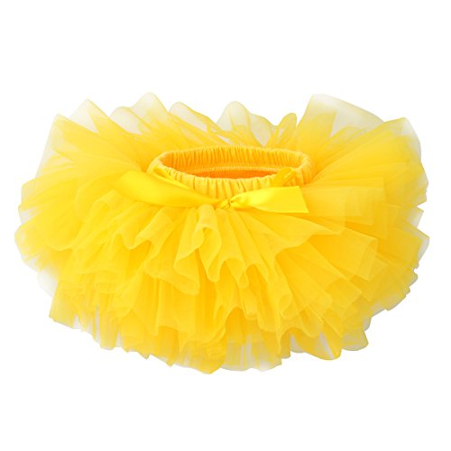 Slowera Baby Girls Soft Tutu Skirt (Skorts) 0 to 36 Months (6-12 Months, Yellow)