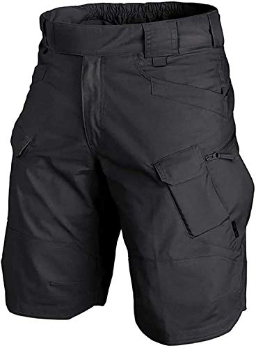 2021 Upgraded Tactical Waterproof Military Shorts Relaxed Fit Men's Cargo Shorts, Hiking Tactical Shorts (Black, 3X Big)