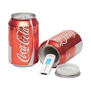 Portaobjetos con forma de lata de Coca-Cola