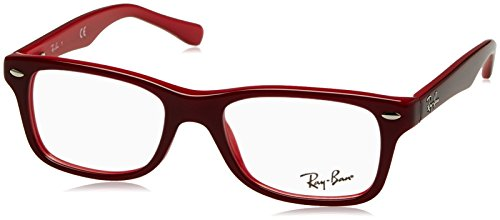 Ray-Ban Unisex Brillengestell RY1531, Rot (Top Red On Opalin Red),