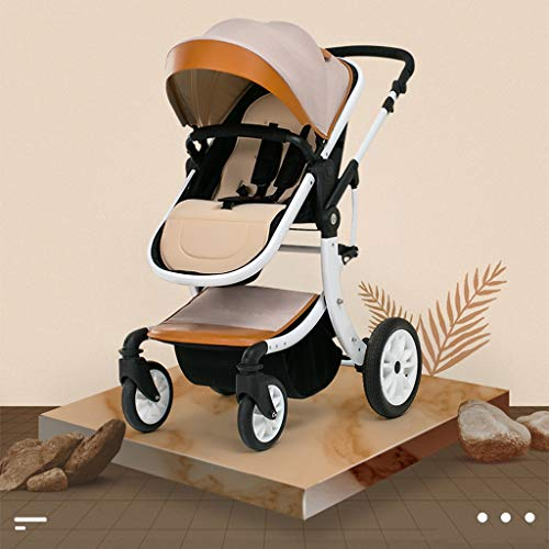 Best Buy! STRR Baby Stroller Carriage Compact Pram Stroller (Color : Khaki)