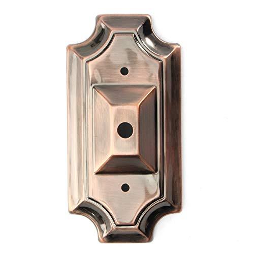 Kit luce del pendente Sostituzione Retro rettangolo di stile dell'annata del riparo della lampada da parete Parte Base Luce Monte Fixture (Colore : Red copper)