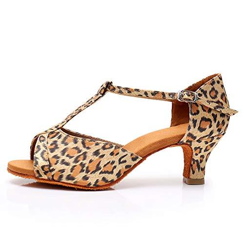 HROYL Zapatos de Baile Latino Mujer Salsa Bachata Comodos Zapatos de Baile...