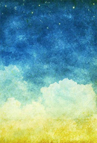 EdCott 5x7ft Pintura Colores Pastel Cielo Estrellado Fondo Abstracto Papel Pintado Niños Bebé Sueño Recién Nacido Fotografía Infantil Telón Fondo Tela Vinilo Niñas Adutls Portraot Photo Shoot Estudio