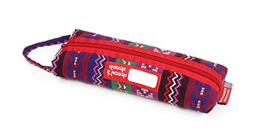 Trousse à crayons en Cordura classique de qualité supérieure - Avec poignée à fermeture éclair - Pour enfants, garçons, adultes, école, tous les jours Rose Folk