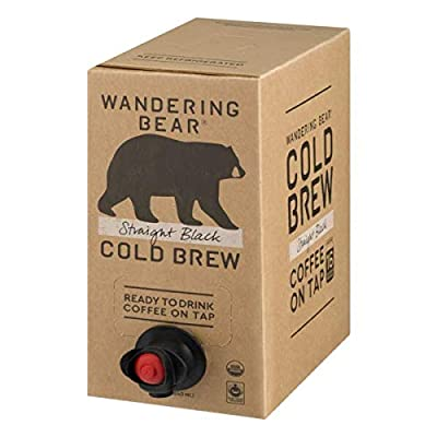 Wandering Bear Straight Black Cold Brew Coffee 96 ounces (Pack of 3)