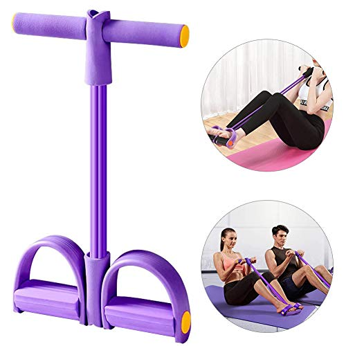 Sunshine smile Fitness Bauchtrainer Band, Widerstandstraining Beintrainer, Pedal Widerstand Band, Bodybuilding Expander, Multifunktions Spannseil, Sit-Up Gym Equipment (lila)