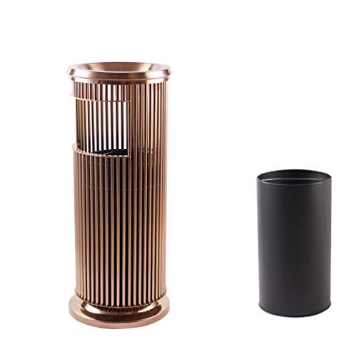 Cubos de basura para exterior La basura de metal al aire libre puede Cenicero Con Peel Cubos de basura puede según la Oficina de Medio Ambiente de colocación de Reciclaje de Residuos compostador (Colo
