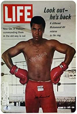 Metal Sign Muhammad Ali Autographed Life Vintage Poster Sign Garage Home Cafe Bar Man Cave Wall product image