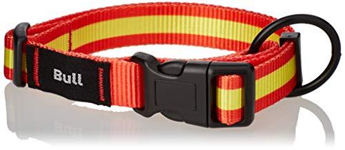 Consentida CN205542 Collar Seguridad España T-3, 33-50 x 2 cm, L, Rojo y Amarillo