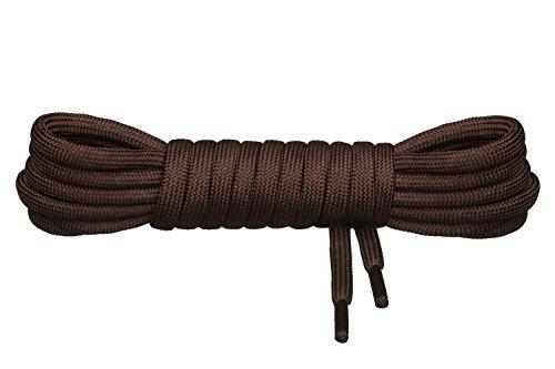 Di Ficchiano runde Schnürsenkel für Trekkingschuhe und Arbeitsschuhe - extra reißfest - ø 5 mm Farbe Braun Länge 120cm