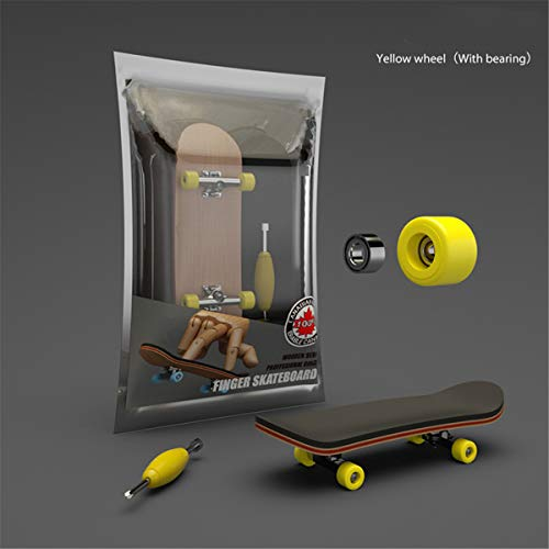 Ocobudbxw Finger Skateboard Diapasón de Madera de Juguete Stents Profesionales Juego de...