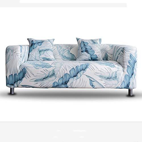 Elastischer Sofabezug für 3-Sitzer, bedruckter elastischer Sessel, Couchhussen - universell passgenaue Sofaschonbezüge Möbelschutz (blau)