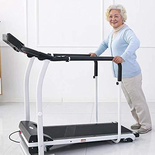 YOVYO Tapis Roulant Elettrico Pieghevole Tapis Roulant per Anziani Macchina per Allenamento Riabilitazione, 3 Gradi di Regolazione della Pendenza, 120KG Cuscinetto, Adatto Ad Anziani