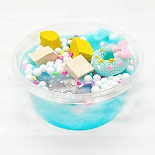 Gbell  Cute Slime Toys for Girls, Cotton Candy Foam Ballsfor Slime Super-Stretchy Stress Relief Toys,Kids Clay Snowflake M...