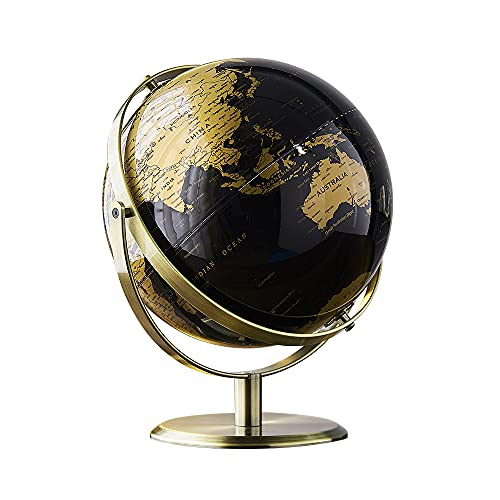Desktop Geographic Globe with Stand, Educational Globe, World Globe, Rotating Earth for Home, Modern...
