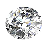 TOPGRILLZ Moissanite D Colorless Simulated Diamond Brilliant Round Cut VVS Loose Gemstones for Jewelry Making, 0.1CT-4CT Certificate of Authenticity (1)