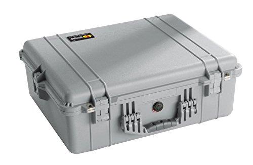 Pelican 1600 Camera Case With Foam (Silver)