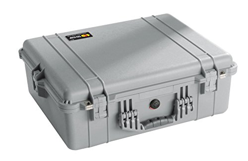 Pelican 1600 Camera Case With Foam (Silver)