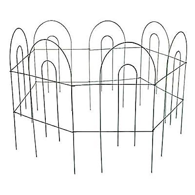 MTB Green Garden Border Folding Fence Lawn Yard Fence 24 Inch x 10 Feet,Pack of 5 Set