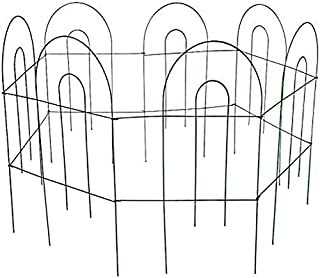 MTB Green Garden Border Folding Fence Lawn Yard Fence 24 Inch x 10 Feet,Pack of 1 set, Overall Length 10 Feet,Landscape Panel,Folding Patio Fences Flower Bed Pet Barrier Section Panel Decorative Fence