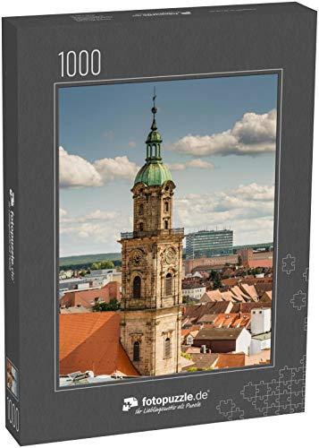 Puzzle 1000 Teile Luftbild über der Stadt Erlangen - Klassische Puzzle, 1000/200/2000 Teile, in edler Motiv-Schachtel, Fotopuzzle-Kollektion 'Deutschland'