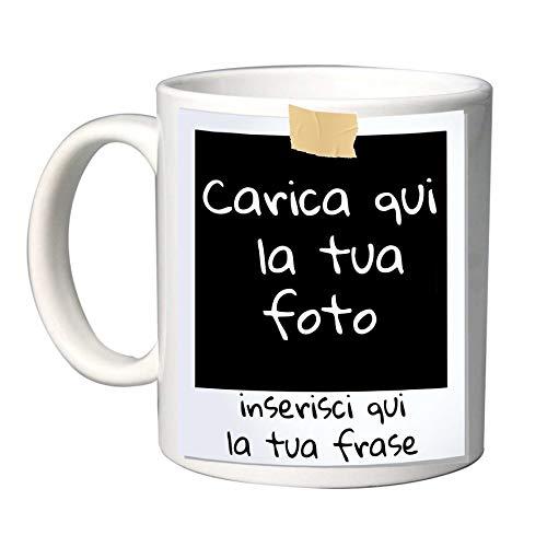 Tazza in Ceramica Personalizzabile con Foto e Scritta Stile Polaroid (Mod.16)