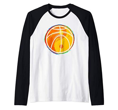 Maglietta da giocatore di pallacanestro con palla Yin Yang Maglia con Maniche Raglan
