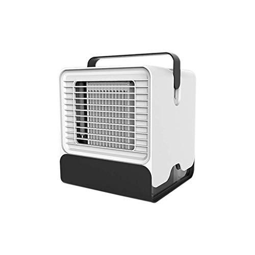 ZHOUJ Mini aire acondicionado portátil Refrigeración fresca, luz nocturna LED enfriador de aire mini ventilador de aire acondicionado para el hogar, dormitorio oficina (blanco)