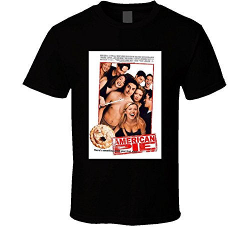 American Pie Cool 90's Comedy Vintage Classic Movie Poster Fan T Shirt L Black
