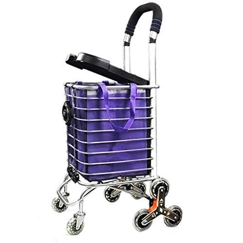 JYTBD YUN TAO Folding Treppen Einkaufswagen, Einkaufswagen, beweglicher Trolley Haushalt, Covered Trolley (Size : C)
