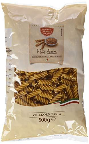 mamma lucia Vollkorn Pasta Spiralen, 10er Pack (10 x 500 g)