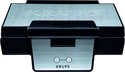 Krups Waffeleisen FDK251 | Doppelwaffeleisen | 2 Belgische Waffeln gleichzeitig | Antihaftbeschichtete Platten (Leichte Reinigung) | Für rechteckige Waffeln | Sicher dank isoliertem Griff | 850W