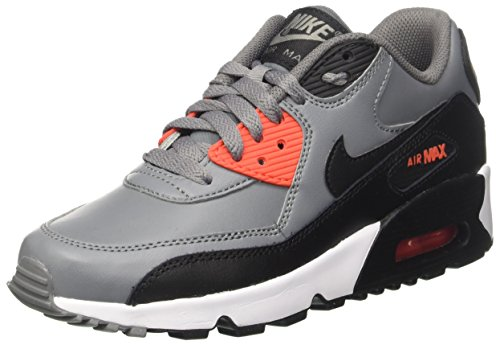 Nike Unisex-Kinder Air Max 90 Ltr Gs Sneakers, Grau (Cool Grey/Black Orange/WHI), 37.5 EU